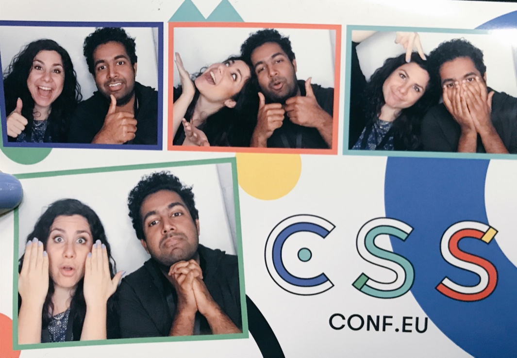 Photobooth images from CSS Conf EU