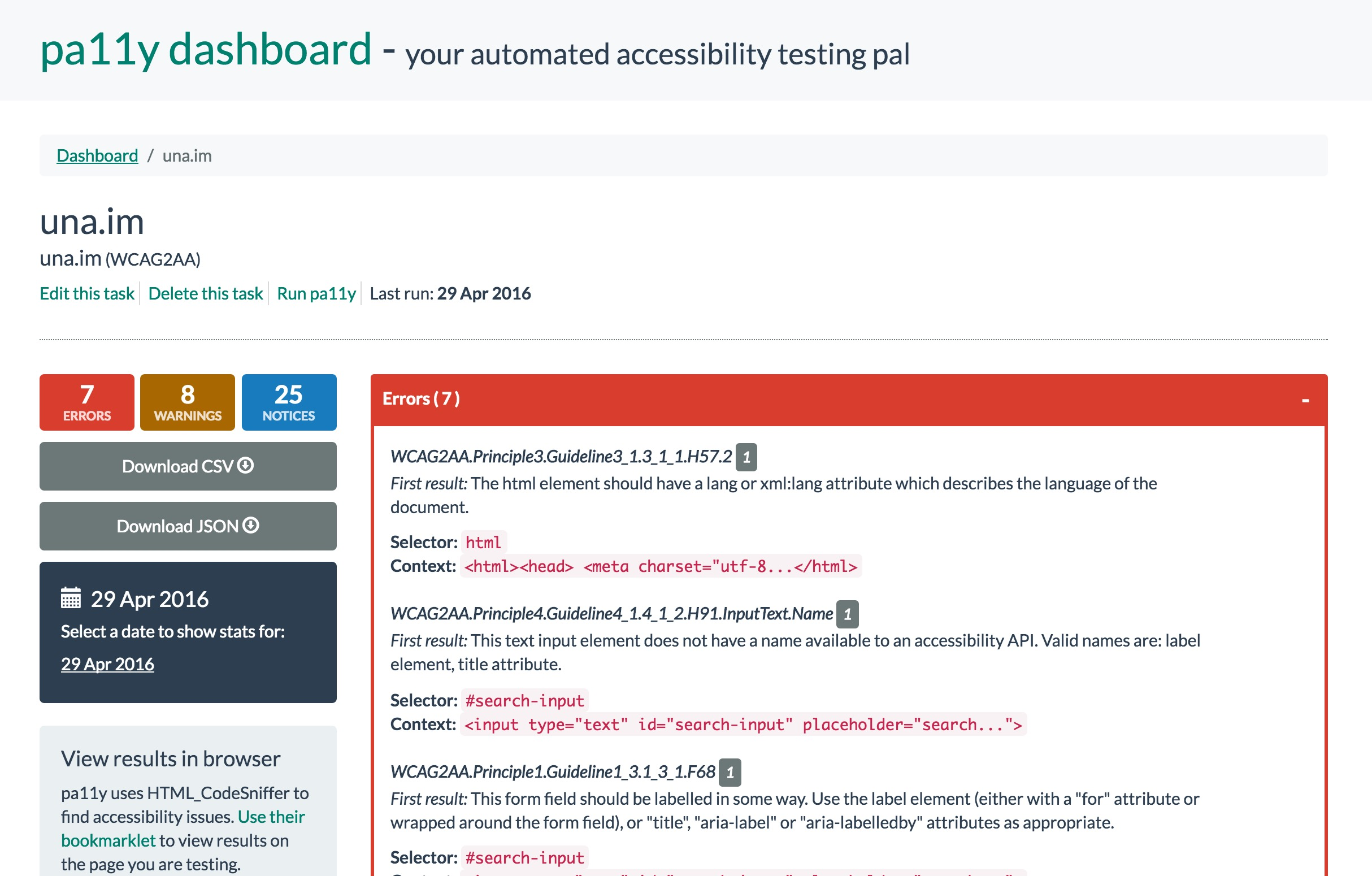 ✨Setting up An Accessibility Dashboard from Scratch with Pa11y on