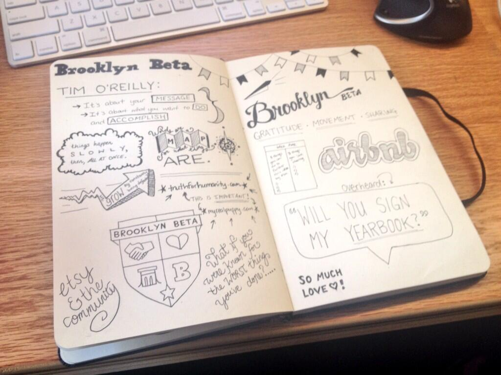 My Sketchnotes from Brooklyn Beta 2013
