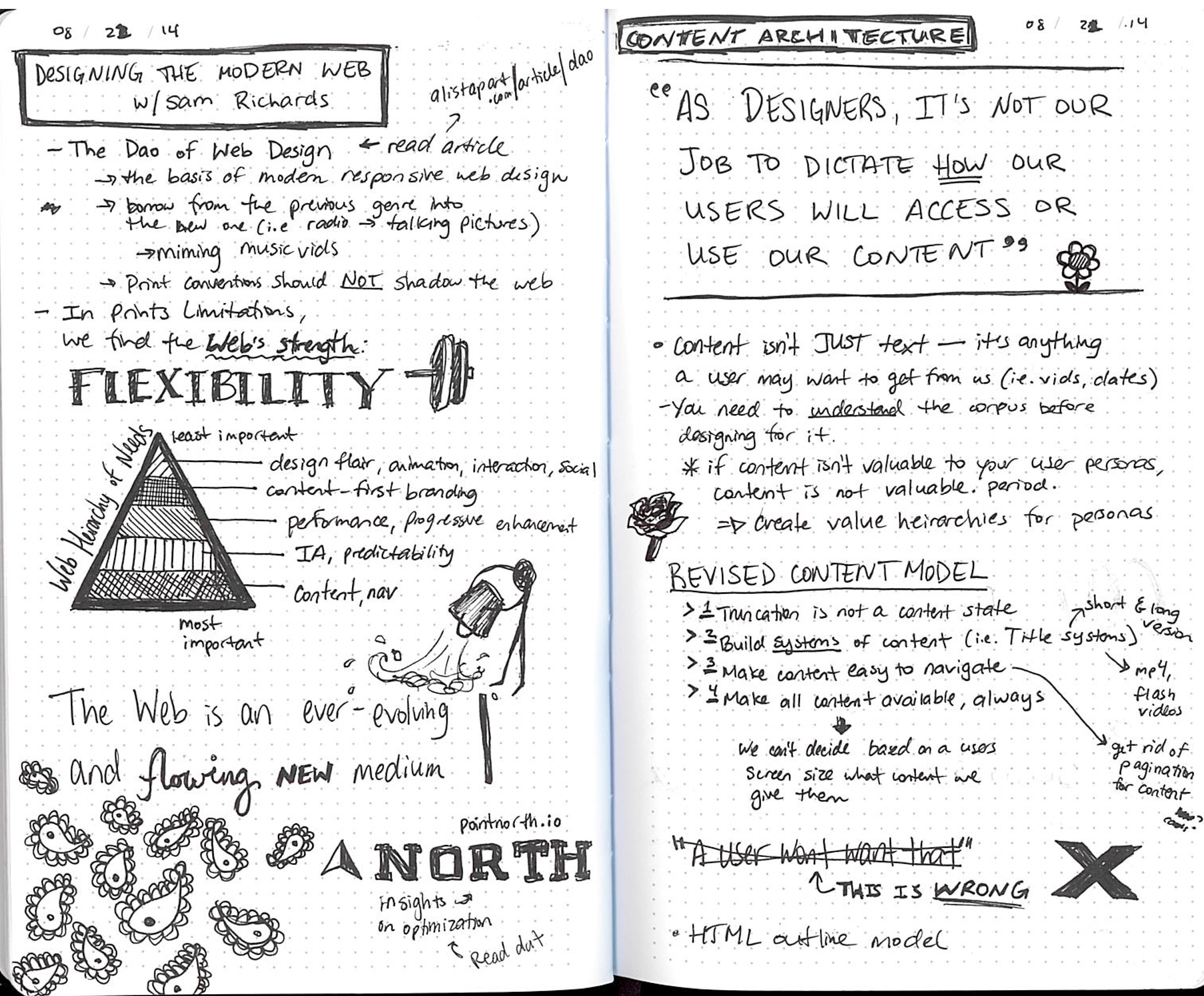 Una's sketchnotes from a Talk by Sam Richard